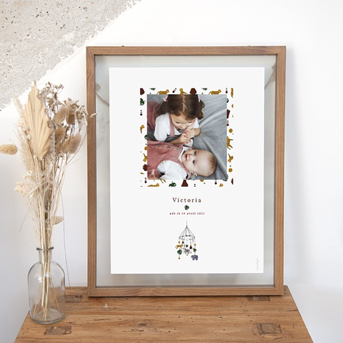 Affiches Mobile Joli Safari, Affiche Chambre d'Enfant, 30 x 40 cm