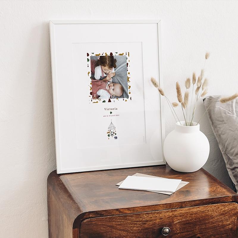 Affiches Mobile Joli Safari, Affiche Chambre d'Enfant, 30 x 40 cm gratuit