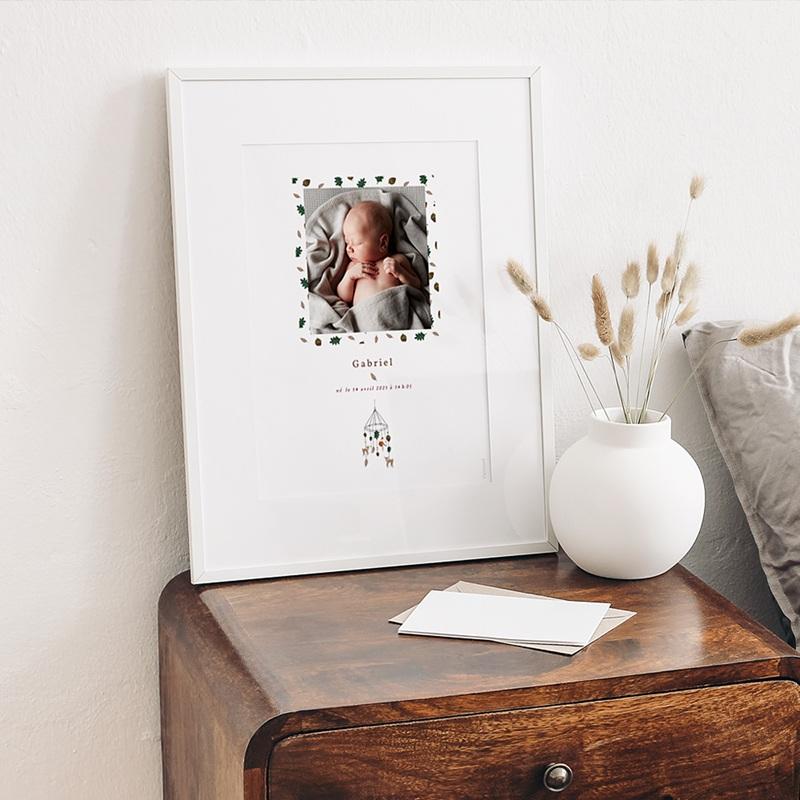 Affiches Mobile Forêt enchantée, Affiche Chambre d'Enfant, 30 x 40 cm gratuit