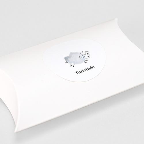 Etiquette Autocollante Naissance Mouton gris bleu, autocollant, 4.5 cm gratuit