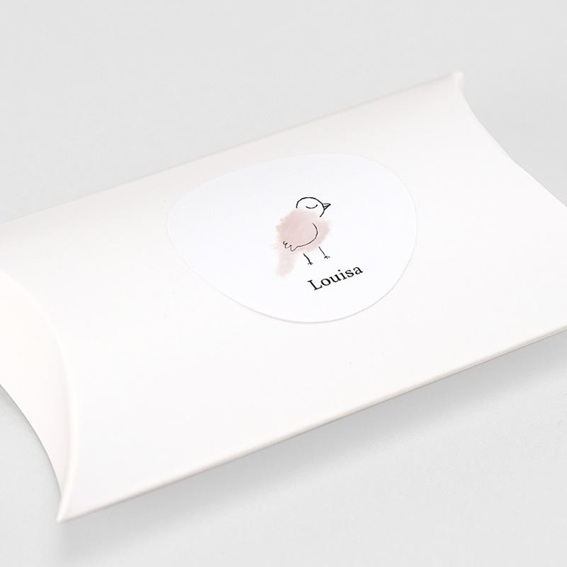 Etiquette Autocollante Naissance Mésange rose, autocollant, 4.5 cm gratuit