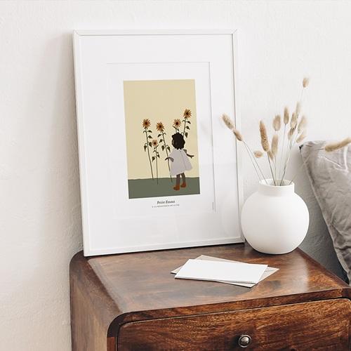 Affiches Emma découvre le monde, 30 cm x 40 cm gratuit