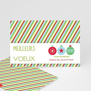 Carte de voeux Meilleurs Voeux Rubans de Noel à personnaliser
