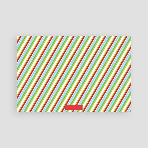 Carte de Voeux Meilleurs Voeux Rubans de Noel pas cher