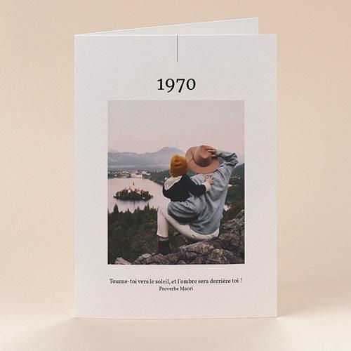 Carte de Voeux Nouveau Départ, 4 photos, 2 volets