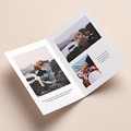 Carte de Voeux Nouveau Départ, 4 photos, 2 volets pas cher