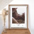 Affiches Baies Roses, Photo & prénom Bébé, 30 x 40 cm