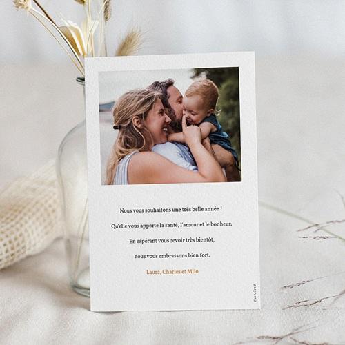 Carte de Voeux Couronne d'oranges florale & photo pas cher