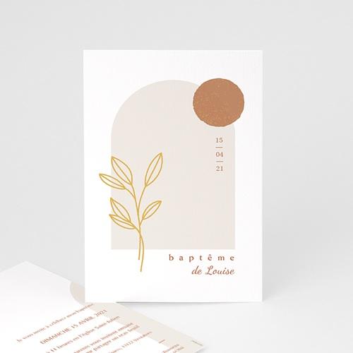 Faire-Part Baptême Bénédiction spirituelle, hostie & rameau doré