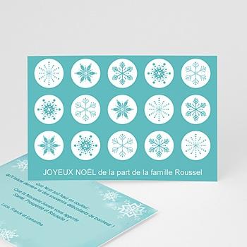 Carte de voeux Joyeux Noë Cristaux de neige à personnaliser