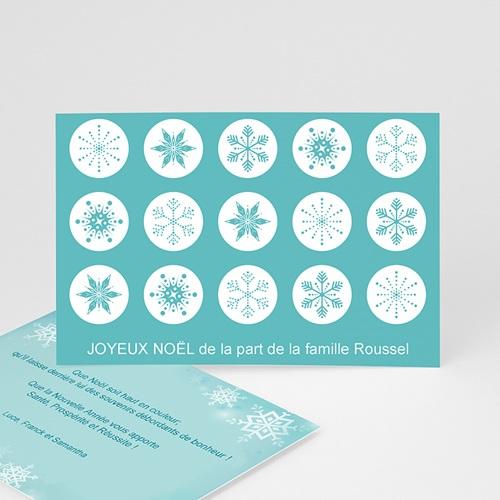 Carte Noël Joyeux Noël Cristaux de neige