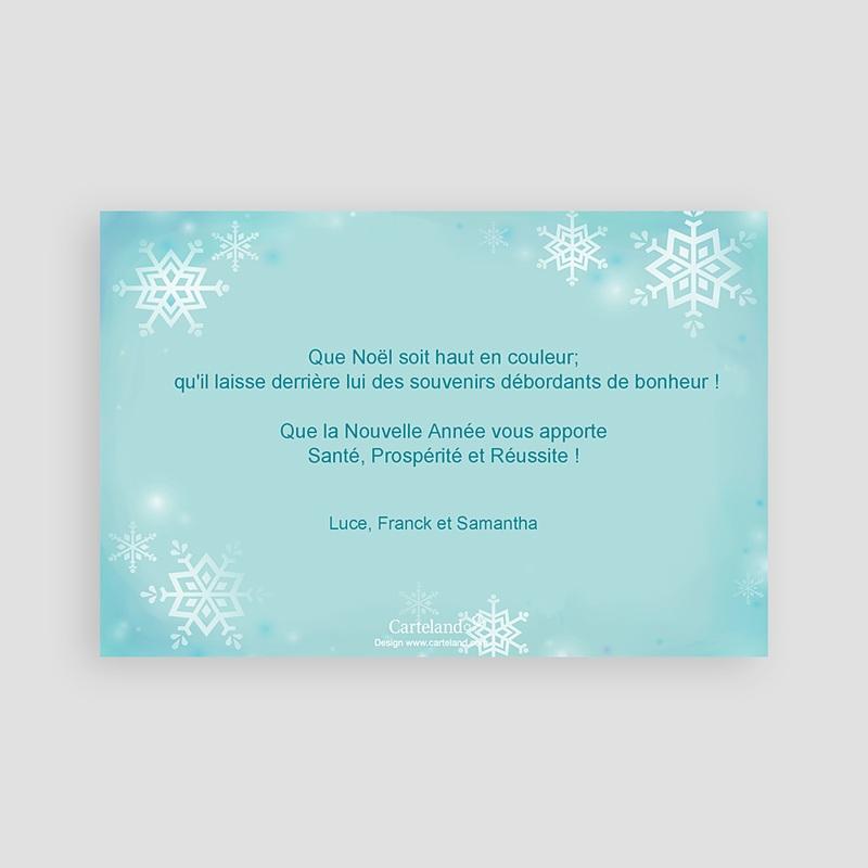 Carte Noël Joyeux Noël Cristaux de neige pas cher