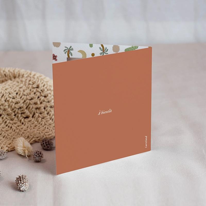 Carte Remerciement Naissance Fille Désert en Folie, Photo & Double volet gratuit