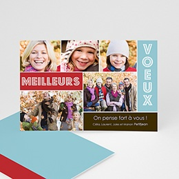 Carte de voeux Meilleurs Voeux Multi-photos Joyeux Collage