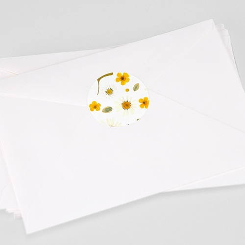 Etiquette Autocollante Naissance Herbier du Soleil, sticker