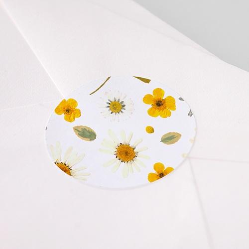 Etiquette Autocollante Naissance Herbier du Soleil, sticker pas cher