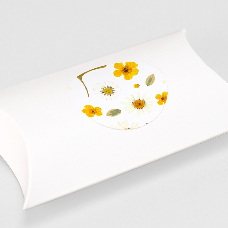 Etiquette Autocollante Naissance Herbier du Soleil, sticker gratuit