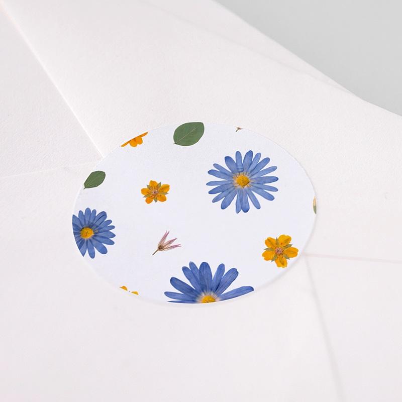 Etiquette Autocollante Naissance Herbier Sérénité, Sticker pas cher