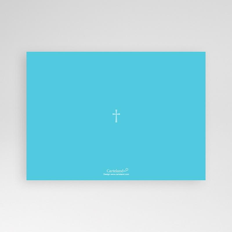 Faire-Part Baptême Garçon Croix Contemporaine Bleue pas cher