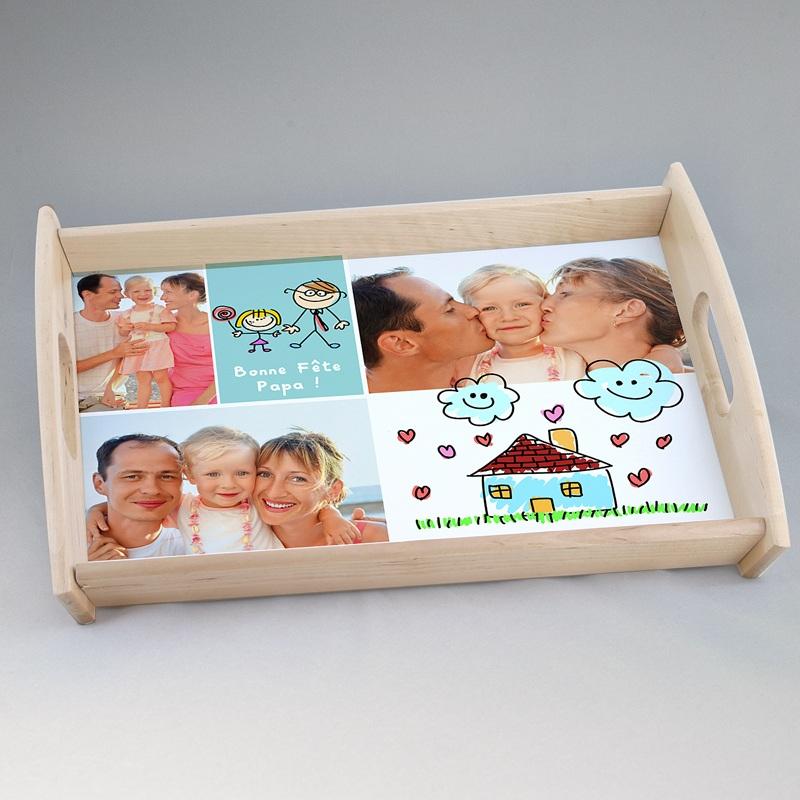 plateau personnalis avec photo f te des parents. Black Bedroom Furniture Sets. Home Design Ideas