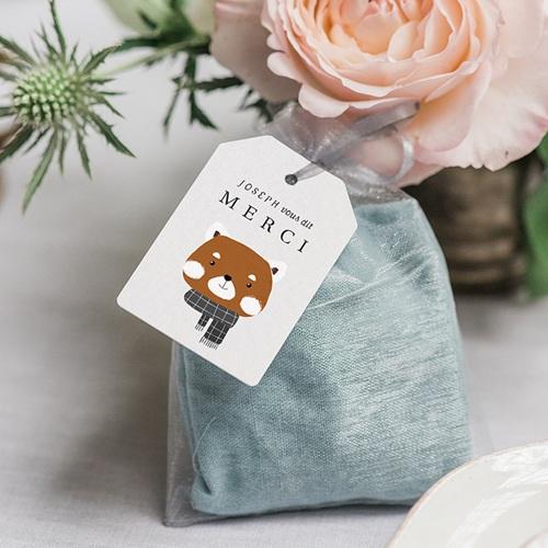 Etiquette Cadeau Naissance Petit Panda roux, Bords biseautés, 6 x 4 gratuit