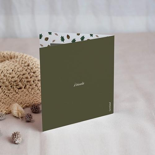 Carte Remerciement Naissance Garçon Forêt enchantée, Photo, 9.5 x 9.5 cm gratuit