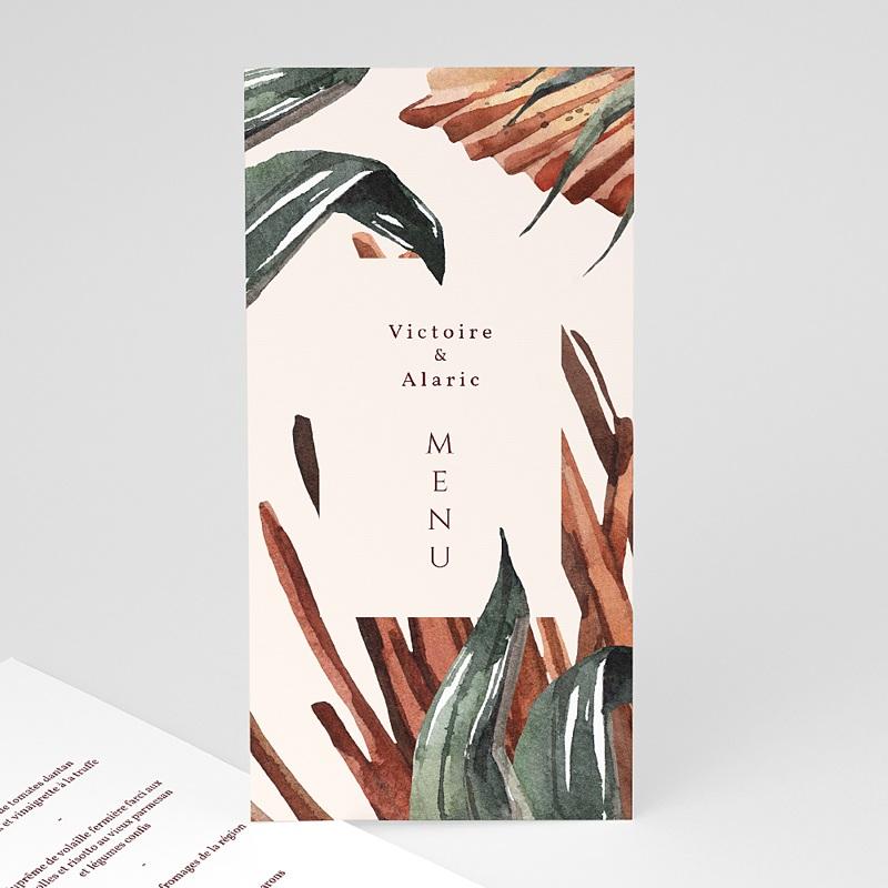 Menu Mariage Palma Terracotta, Tropical chic, 10 x 21