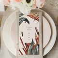 Menu Mariage Palma Terracotta, Tropical chic, 10 x 21 gratuit