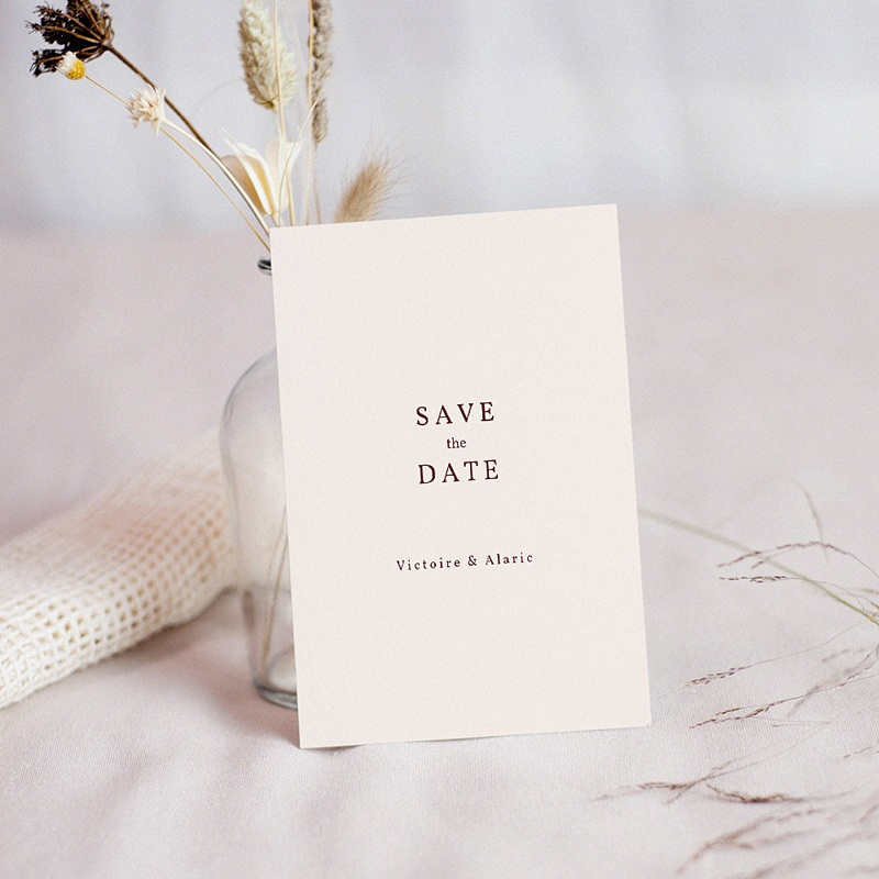 Save The Date Mariage Palma Terracotta, Tropical chic, 10 x 14 cm