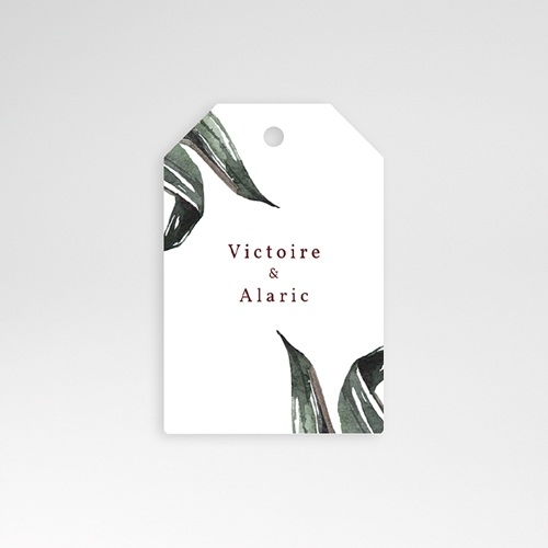 Etiquette Cadeau Mariage Palma Terracotta, Tropical chic, 6 x 4