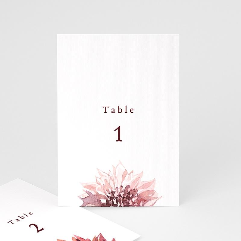 Marque Table Mariage Accord floral, Lot de 3 repères de table