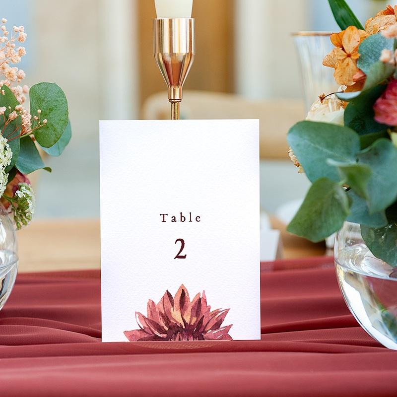 Marque Table Mariage Accord floral, Lot de 3 repères de table gratuit