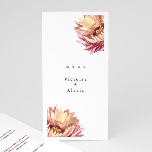 Menu Mariage Aloe flambloyant, Tropical chic, Dîner
