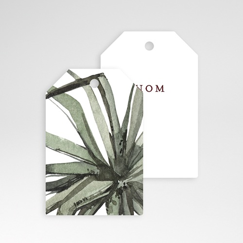 Marque Place Mariage Aloe flambloyant, Tropical chic, 6 x 4 pas cher