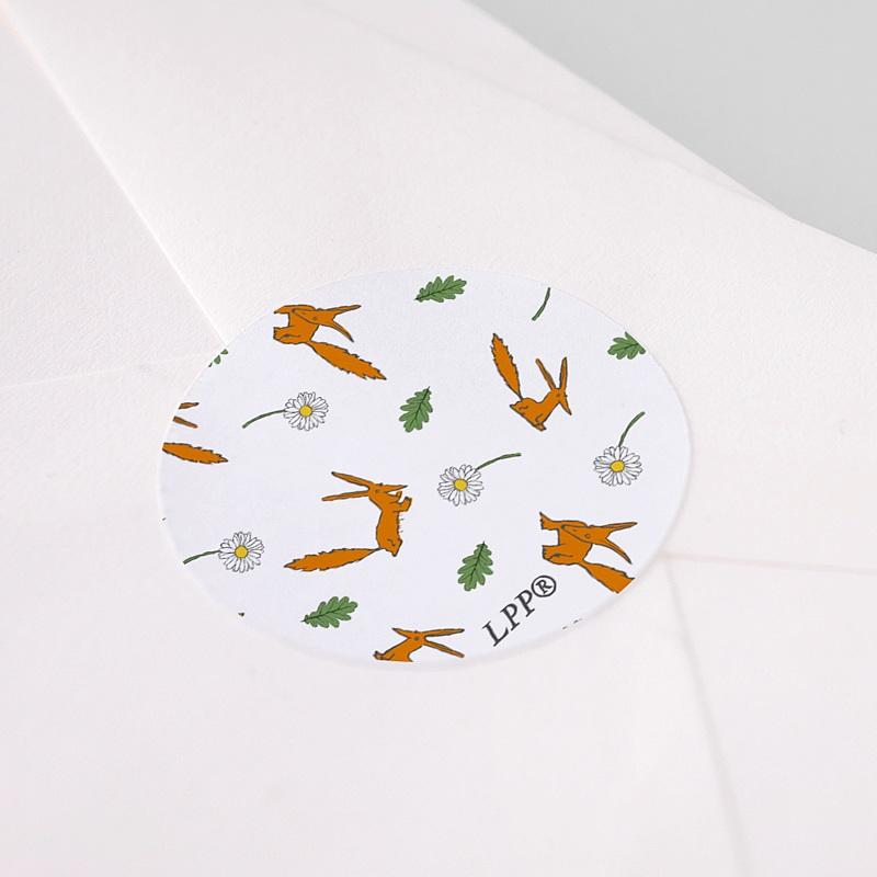 Etiquette Autocollante Naissance Le Petit Prince Le renard du Petit Prince, sticker rond pas cher