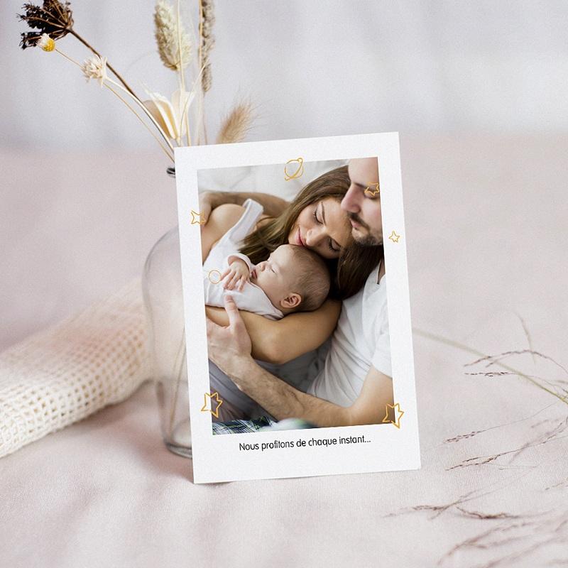 Carte Remerciement Naissance Le Petit Prince Je t'apprivoiserai, dit le Petit Prince, 10 x 14 cm