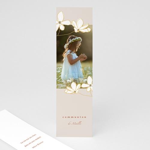 Marque Page Communion Fleur d'esprit, Signet Photo & dorure