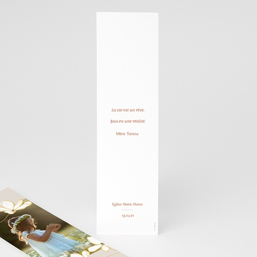 Marque Page Communion Fleur d'esprit, Signet Photo & dorure pas cher