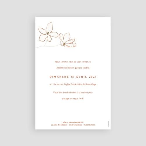 Faire-Part Baptême Fleur de Joie, Japonisant, dorure pas cher