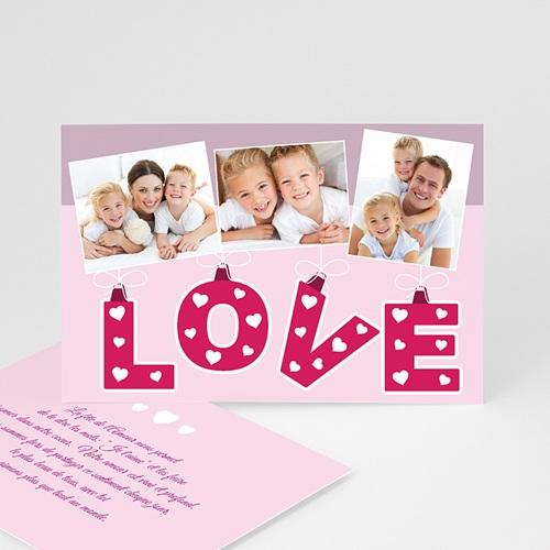 Cartes Saint-Valentin - Coeur d'Amour 9528