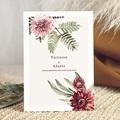 Faire-Part Mariage Nature Accord floral, Dahlia & Fougères, 15 x 21 cm
