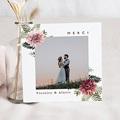 Carte Remerciement Mariage Photo Accord floral, Dahlia & Fougères,  14,5 x 15 cm