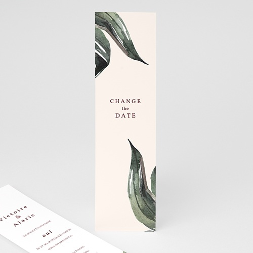 Change The Date Mariage Change the date Palma Terracotta, Tropical chic, 21 x 5 cm