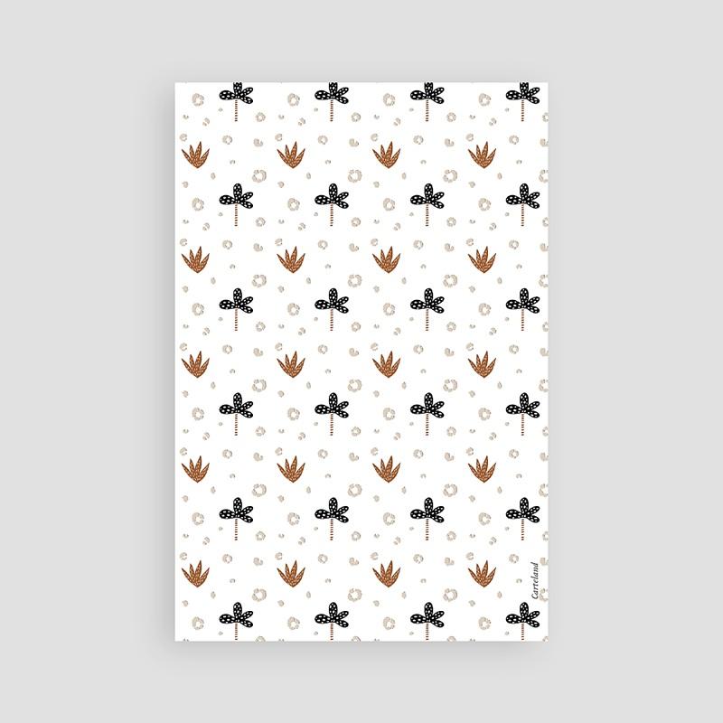 Carte Remerciement Naissance Fille Petite Ourse d'hiver, Motif Aloe Vera & Fleur pas cher