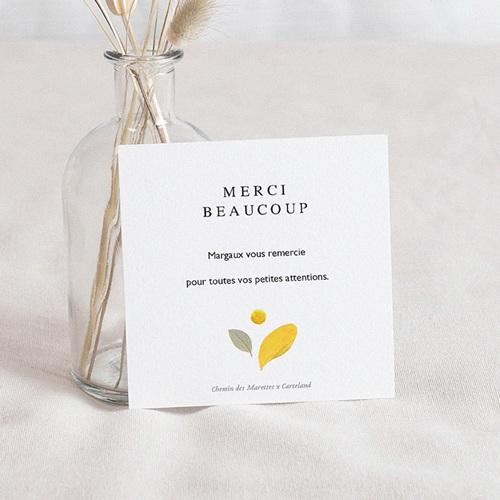 Carte Remerciement Naissance Frère et Soeur Herbier, Couronne estivale, 10 x 10