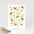 Carte Remerciement Naissance Fille Herbier du Soleil, Portrait