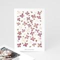 Carte Remerciement Naissance Frère et Soeur Herbier du Bonheur, Fleurs Parme, 10 x 15 cm