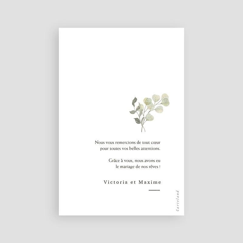 Carte Remerciement Mariage Neo Champêtre, Photo, Monnaie du Pape pas cher