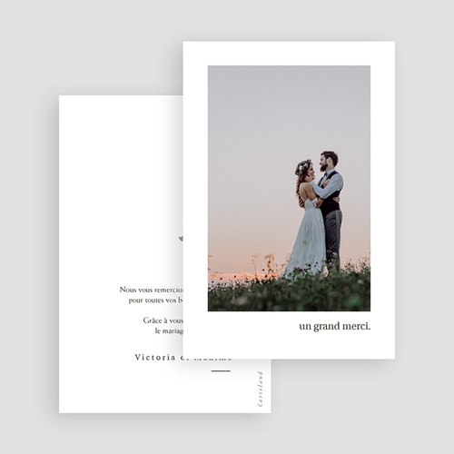 Carte Remerciement Mariage Neo Champêtre, Photo, Monnaie du Pape gratuit