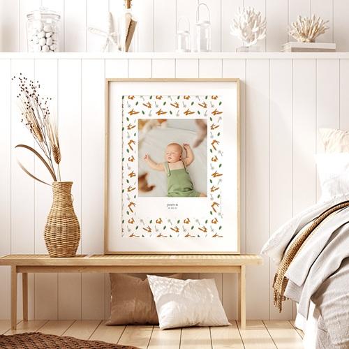Affiche Chambre Enfant Le Petit Prince Portrait du Petit Prince, Motif Renard, 30 x 40 pas cher